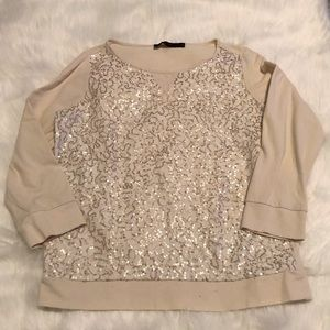 The Limited Sequin Blouse
